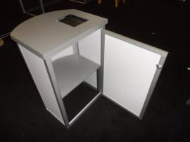 MOD-1288 Modular Pedestal with iPad Counter Insert -- Image 1