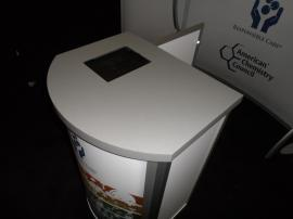 MOD-1288 Modular Pedestal with iPad Counter Insert -- Image 2
