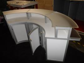 Custom Wraparound Reception Counter with Storage -- Image 2