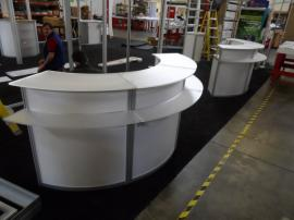 Custom Wraparound Reception Counter with Storage -- Image 3