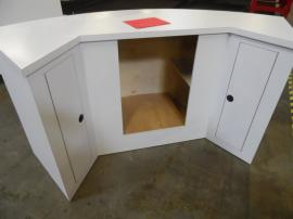 Custom Wood Construction Reception Counter with Storage -- Image 1