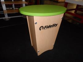 LTK-1001 Tapered Modular Pedestal with Locking Storage and Shelf -- Image 1