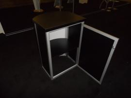 MOD-1267 Pedestal with Shelf and Locking Storage -- Image 3