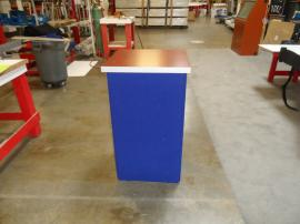 DI-604 Folding Fabric Pedestal with Shelf -- Image 1