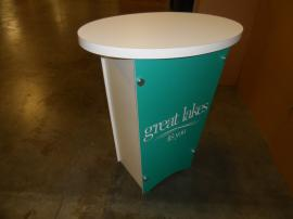 LTG-1001 Portable Tapered Pedestal with Graphic -- Image 2