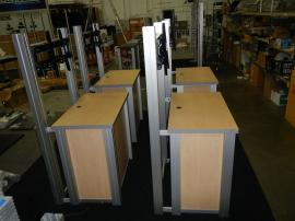 RENTAL: (4) RE-1232 Rectangular Counter Kiosks. Includes Locking Doors, Interior Shelves, and Large Monitor Mounts -- Image 2