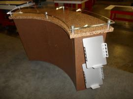 Custom Re-configurable Inline with Reception Counter, Bar Counter, iPad Mounts, and Tension Fabric Graphics -- Image 4