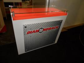 Custom SEGUE Hybrid Display with Large Format Graphics and Custom Counter with Locking Storage -- Image 3