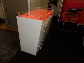 Custom SEGUE Hybrid Display with Large Format Graphics and Custom Counter with Locking Storage -- Image 2