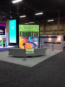 12' High x 8' Wide Double-Sided Tower with LED Backlit SEG Fabric Graphics -- Image 2