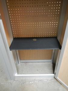 RENTAL:  (49) RE-1227 Rectangular Counters with Interior Shelves & Pegboard Ventilation -- Image 3
