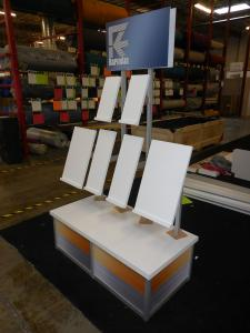 Custom Modular Product Stand with Graphics and Locking Door. Packs in Portable Roto-molded Case -- Image 1