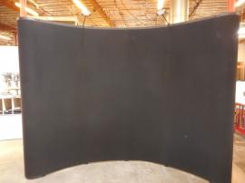 QD-113 Quadro Pop Up Display with Black Velcro-receptive Fabric -- Image 1