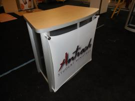 MOD-1175 Modular Pedestal with Tension Fabric Graphic and Locking Storage -- Image 1