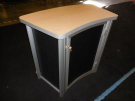 MOD-1175 Modular Pedestal with Tension Fabric Graphic and Locking Storage -- Image 2