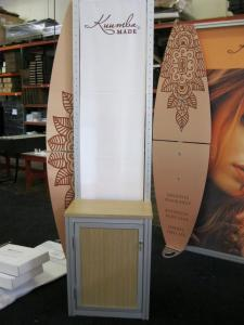 eSmart Modified ECO-1048 with EcoBoard Wings, Modified ECO-35C Counter with Backlit Graphics, Acrylic Shelving, and SEG Fabric Graphics and a Custom Kiosk with Storage -- Image 2