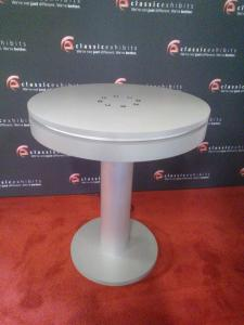 MOD-1432 Bistro Table Charging Station with (8) USB Ports and LED Perimeter Lights -- Image 1