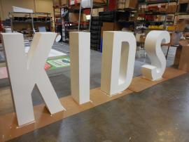 Custom Wood Fabricated Dimensional Letters for a Retail Clothing Store -- Image 1