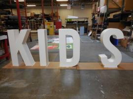 Custom Wood Fabricated Dimensional Letters for a Retail Clothing Store -- Image 2
