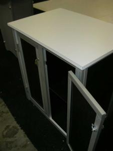 eSmart Custom Backlit Counter with Locking Doors, Laminate Countertop, and Shelf -- Image 3