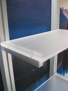 eSmart ECO-2050 with Lightweight Aluminum Frame, (4) Acrylic Shelves, Fabric Graphics and Custom Lighting -- Image 2