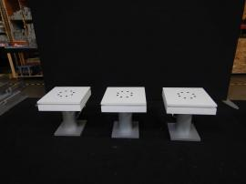 RENTAL: (3) RE-703 (MOD-1433) End Table Charging Stations with Laminate Tops and Optional Roto-molded Case with Wheels -- Image 1