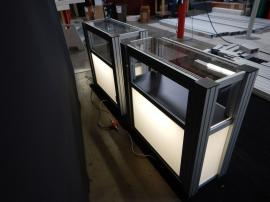 RENTAL: (2) RE-502 Display Cases with Lighting and Locking Door -- Image 2