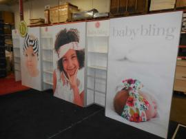 Custom Modular Inline Exhibit with HD Tension Fabric Graphics