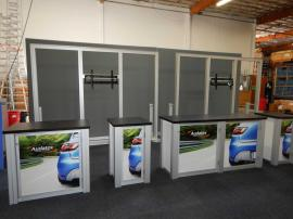 Rental Display: (2) 10' x 8' SEG Backwall Structures with Large Monitor Supports and Mounts