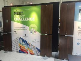 RENTAL:  Trade Show Backwall with Laminated Panels