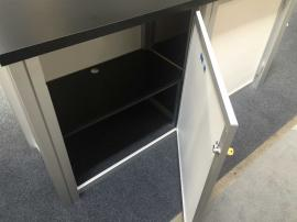 Locking Storage with Interior Shelf
