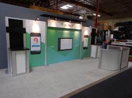 Rental Inline Exhibit with Fabric Graphics and Monitor Options