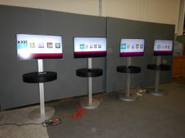 "RENTAL: (4) RE-706 Charging Stations with 42"" Monitors"