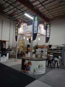 RENTAL: Modified RE-9077 20' x 20' Island Design with 16' High Tower and (6) Pendant Lights