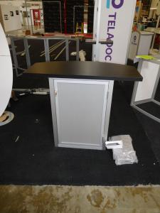 Custom MOD-1267 with Larger Counter Top and Locking Storage -- Rear View