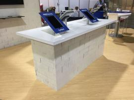 RENTAL:  RE-1207 Social Media Counter with Charging Ports and Rotating iPad Stands