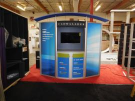 VK-1053 Visionary Designs Hybrid Exhibit with Canopy, Storage, and Large Format Graphics