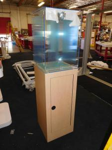 "Custom 72"" Display Case with Acrylic Showcase (18"" x 18"" x 26"") and Locking Storage"