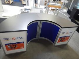 RENTAL: RE-1235 Half Circle Bar with Sintra Infill Graphics and Storage