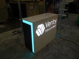 Custom Counter with LED Lighting and Locking Storage