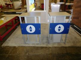 (2) eSmart ECO-26C Modular Pedestals with Direct Print Graphic