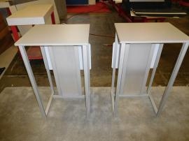 (2) eSmart ECO-26C Modular Pedestals with Direct Print Graphic -- Rear View