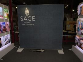 Re-configurable 10 ft. Custom Display with SEG Fabric Graphic and LED Lightboxes
