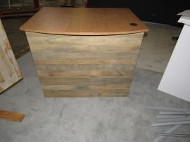 "Custom Wood Fabrication Counter for Food Sampling (44"" W x 34"" D x 36"" H)"
