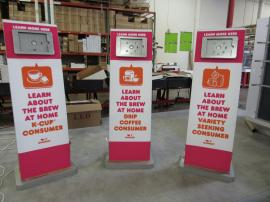 (3) Double-sided MOD-1363 iPad Kiosks with Fabric Graphics