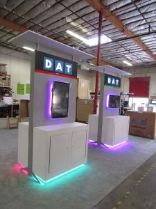 Two-sided Workstations with Canopy, Backlit Logo, LED RGB Accent Lights, and Locking Storage