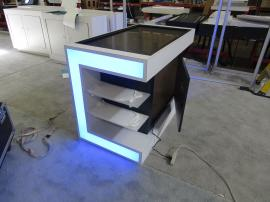 Custom Inline with Custom Counter with Shelves, Uplighting, and Locking Storage