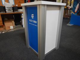 (2) RE-1219 Square Pedestals with Sintra Pedestal Graphics
