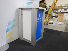 (2) RE-1219 Square Pedestals with Sintra Pedestal Graphics and Locking Storage