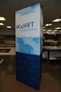 Portable TF-603 Triangle Tower with Tension Fabric Graphics